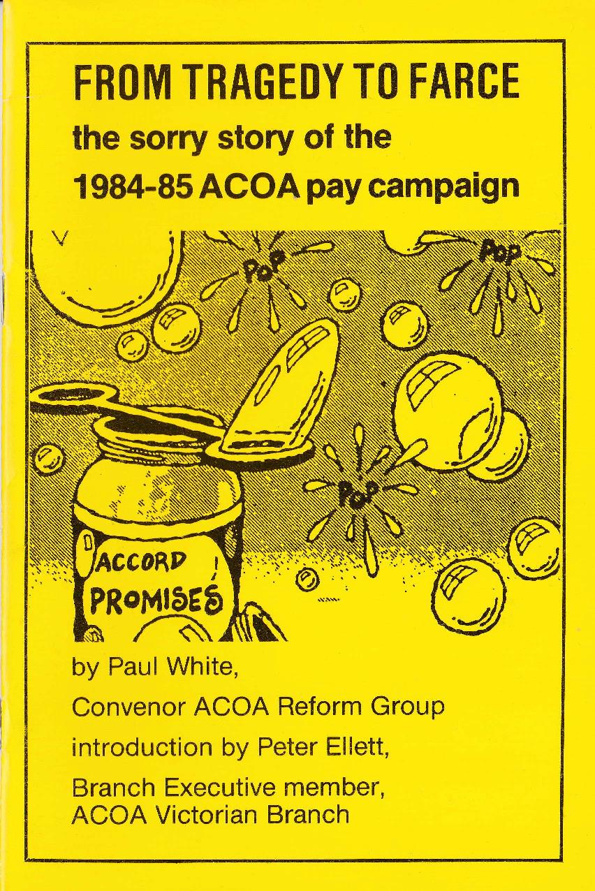 From tragedy to farce the sorry story of the 1984 85 acoa for Farcical tragedy