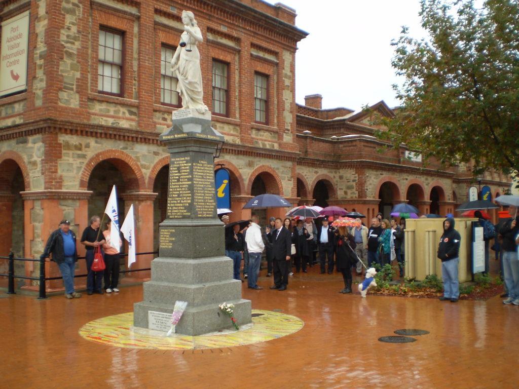 Pt Adelaide workers memorial
